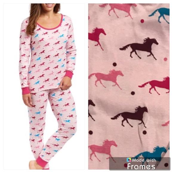 3b97da75cc Pink Horse Lovers Cotton Pajama Set